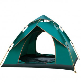 Camping tent with cover